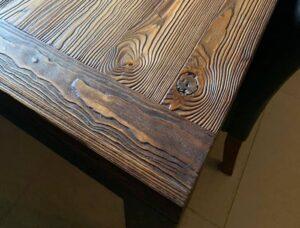 stol postarzane drewno piskowane