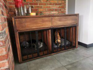 meble loftowe poznań kojec dla psa drewniany dębowy