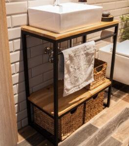 drewniana szafkapod umywalkę poznań