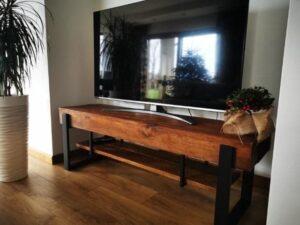 szafka TV drewniana metalowa producent warszawa