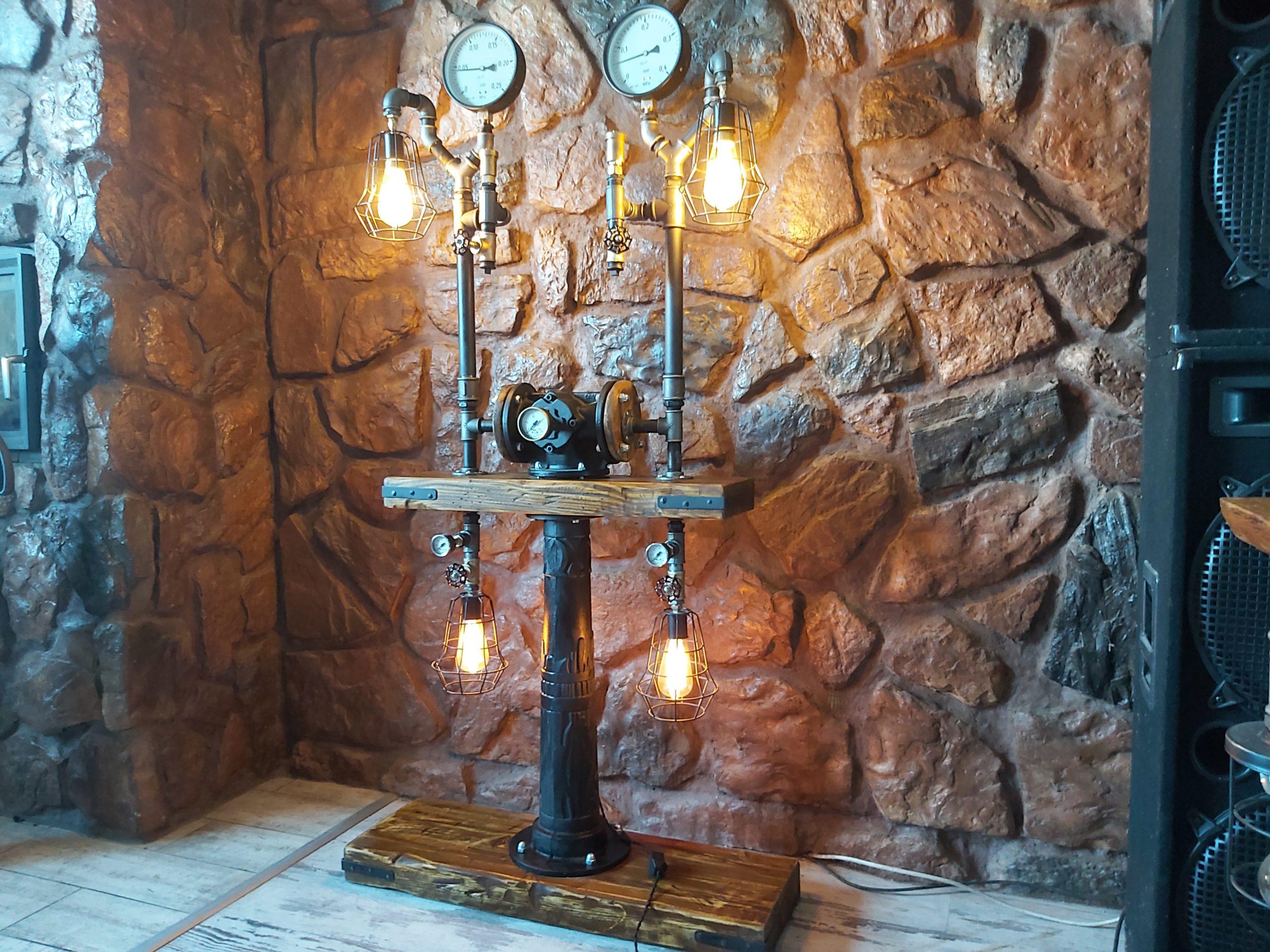 lampa steampunk
