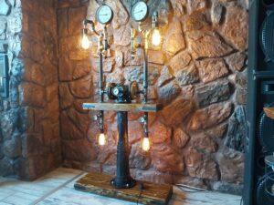 Loftowa Konstrukcja Świetlna Steampunk