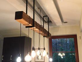 lampa loftowa z belki